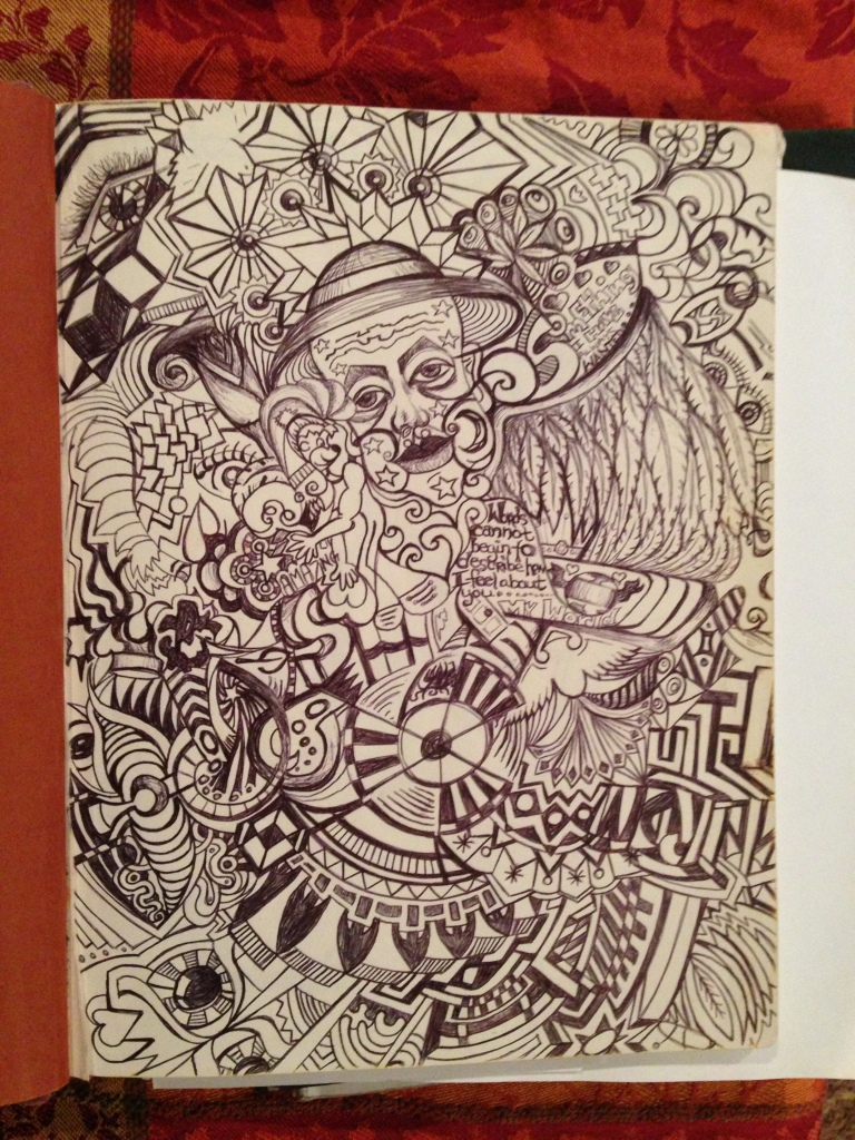 Crazy Zendoodle Art from my Pre-Dylan era